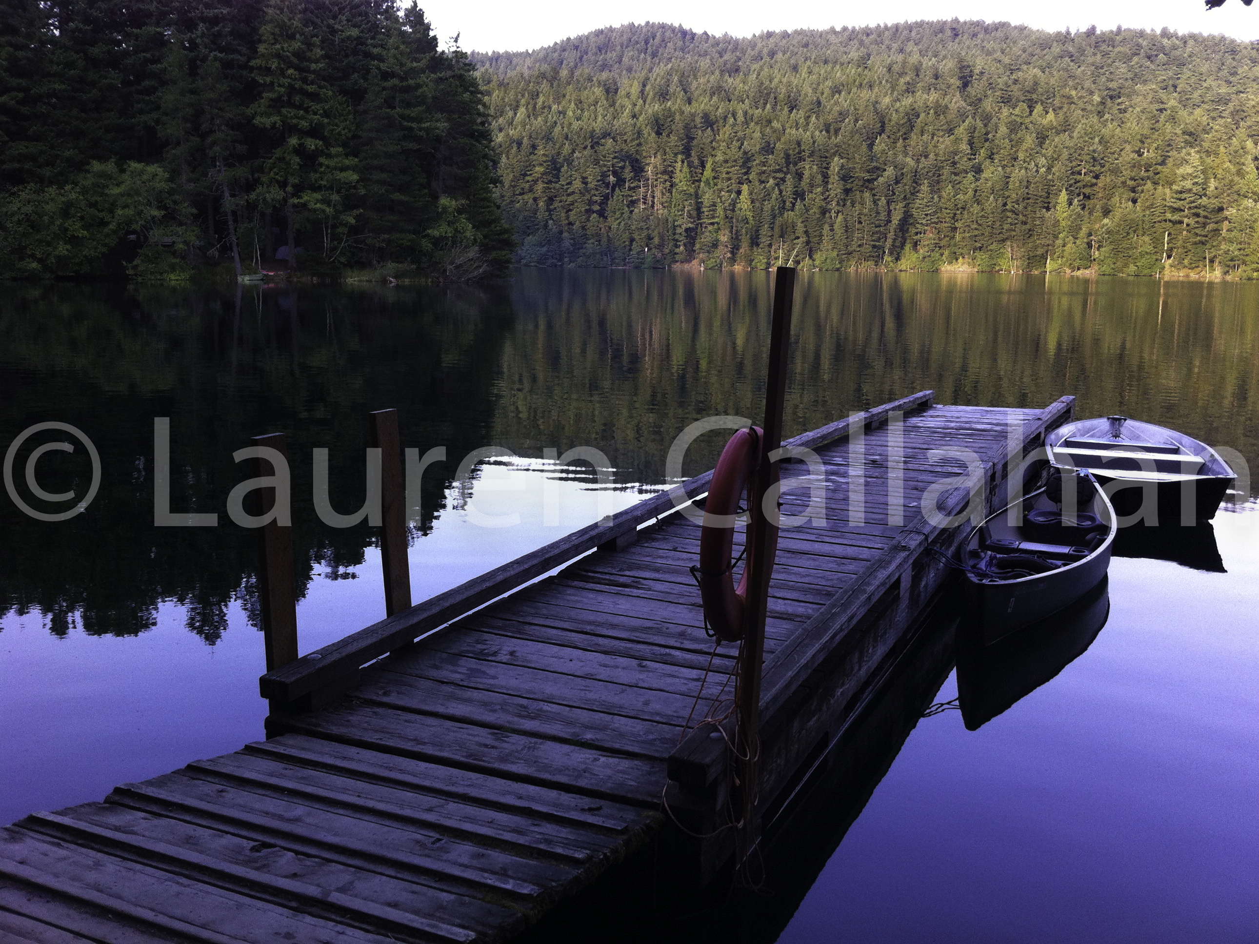 summer vacation lake dock Lauren Callahan Photography Orcas Island